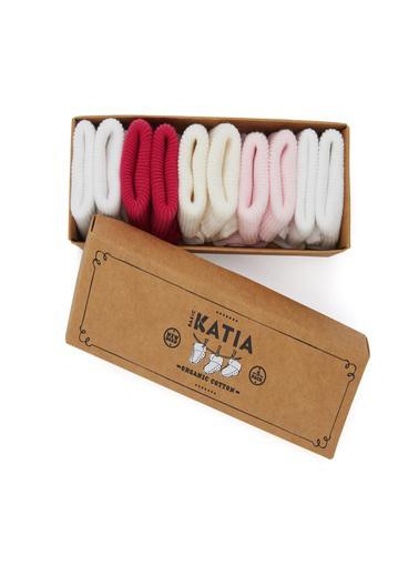 Katia & Bony Renkli Yenidoğan Organik 5 Li Bebek Çorap  Pembe